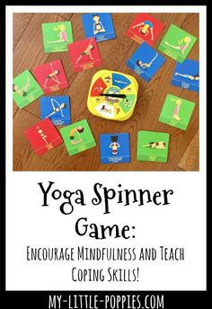 Encourage mindfulness, teach coping strategies, focus on fitness and have fun with ThinkFun's Yoga Spinner Game. Your children will love it! Mindfulness Activities, Activities For Kids, Preschool Ideas, Counseling Activities, Coping Skills List, Yoga Games, Elementary School Counseling, Yoga For Kids, Social Skills