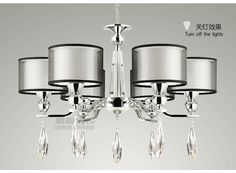 Europe Style Fabric Modern Crystal Chandeliers Diameter 72cm Dimmable 6 Head Lustres De Cristal Chandeliers Free Shipping-inChandeliers from Lights & Lighting on Aliexpress.com   Alibaba Group