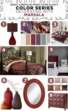 Color Series: Decorating with Marsala from Great American Home Store Blog #ShopGAHS