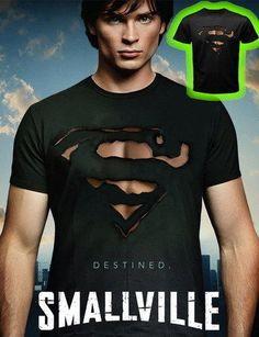 Cool Superman Burn Out Logo #Hanes #BasicTee