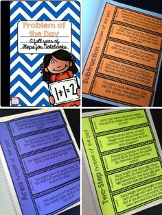 Word problems for every day of the school year! Includes tons of topics. Perfect for interactive notebooks! college student resources, college tips Fun Math, Math Activities, Maths, Math Math, Third Grade Math, Second Grade, Fourth Grade, Sixth Grade, Teaching Math