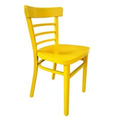 Vintage Cafe Chair in Yellow.