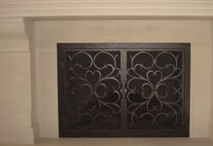 Custom Glass Fireplace Doors #fireplace #glass Custom Glass Fireplace Doors