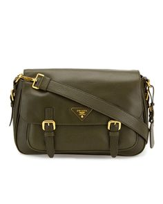 Prada Large Leather Messenger Bag