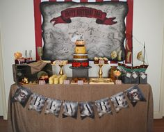 Boy's Pirate Themed Birthday Party