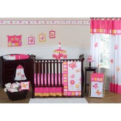 Sweet Jojo Designs Pink and Orange Butterfly Crib Bedding Collection - buybuyBaby.com