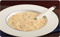Cream-Style Chicken Soup with Wild Rice ~ Serve with a salad and cracked wheat rolls | BetterThanBouillon.com