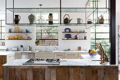 Küchen Design, House Design, Design Ideas, Interior Design, Instagram Feed, Suspended Shelves, Hanging Shelves, Floating Shelves, Home Decor Kitchen