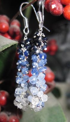 Gorgeous Faceted Sapphire Earrings by Created2Inspire on Etsy, $140.00