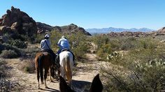 """At Hideout Ranch on the Arizona New Mexico border, guests went for a """"Girls Ride"""" on Thanksgiving."""