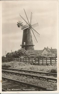 Old Postcard Windmill, Heckington, Lincolnshire