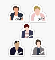 One Direction Minimalist Pegatina One Direction Albums, One Direction Fan Art, One Direction Cartoons, One Direction Drawings, One Direction Wallpaper, One Direction Quotes, One Direction Pictures, Printable Stickers, Cute Stickers
