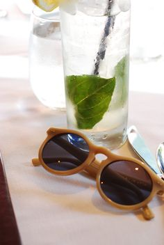 70ff53123e Toulouse shades by Krewe du Optics having a cocktail at Fresco Italian  Restaurant in Waikiki!!!!! Made in NOLA!!