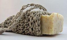 Natural Hemp Soap Saver Pouch, Eco-friendly Soap Bag. $12.00, via Etsy.