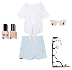 """Weekend Brunch"" by acommonspace ❤ liked on Polyvore featuring Valentino, Bobbi Brown Cosmetics and Karen Walker"