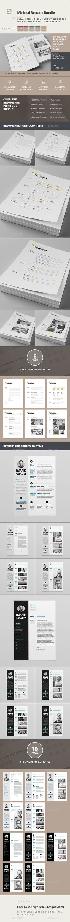 Modern Resume Set Modern Resume Indesign Resume