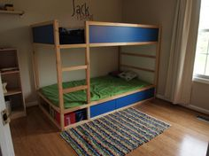 DIY bunk beds (Ikea bunk bed gets storage and second kid off the ground)