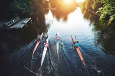 Team of rowing people by Stefan & Janni on Creative Market
