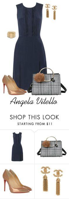 """Shift dress"" by angela-vitello on Polyvore featuring Christian Louboutin"