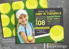 Tennis Birthday Invitation Tennis Birthday Tennis Ball