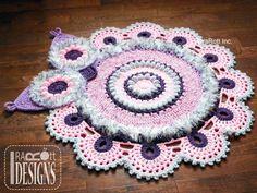 Owl Crochet Doily Rug Pattern