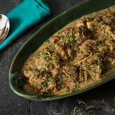 One of my personal favourites. This substantial dish freezes well. Use the leftover egg whites for meringues, add them to a soufflé or omelette, or freeze to use on another occasion. Lemon Recipes, Fruit Recipes, Meat Recipes, Cooking Recipes, Yummy Recipes, South African Recipes, Allrecipes, Lamb, Pork