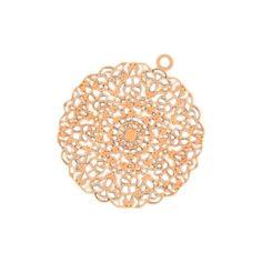 Mandala-Anhänger rose-gold 26 mm. www.perlensucht.at Mandala, Rose Gold, Home, Pearls, World, Schmuck, Ad Home, Homes, Houses