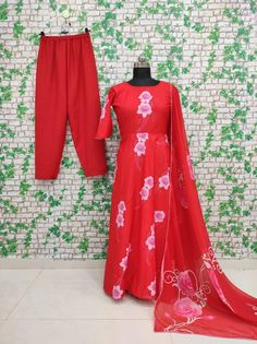 Order #HC80 BUTTER SILK with Embroidery work Gown Paint₹1315 on WhatsApp number +919619659727 or ArtistryC.in