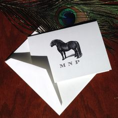 New to VeronicaFoleyDesign on Etsy: Personalized Pony Stationery with vintage illustration of Shetland Pony Custom Stationery Set of 10 - 300 100% Cotton Savoy (18.00 USD)