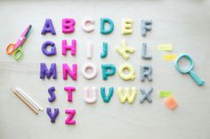 Colorful Felt Alphabet, 26 Capital Letters, Educational Game, Preschool, Handmade Alphabet, Stuffed Alphabet ABC Educational Toy Kids Baby