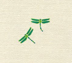 Machine embroidery dragonflies by IvanaStudio on Etsy