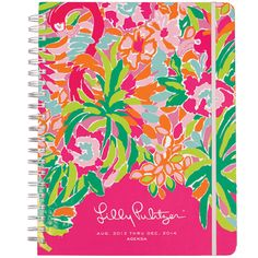 The Lilly Pulitzer 2014 Jumbo Agenda is an even larger version of the classic Lilly agenda! This 17-month Lilly Pulitzer planner for 2013-2014 is a must have for every Lilly-lovin gal! It is a unique daily agenda full of frisky fun! The colored tabs, made of super-study mylar this year, make for happy planning.   Complete with weekly and monthly calendar pages, starting August 2013, this Lilly Pulitzer planner has dates to remember, contacts and notes. The best day planner ever (it's a Lilly…