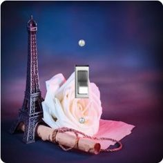 """Rikki KnightTM Parisian Romance - Single Toggle Light Switch Cover by Rikki Knight. $13.99. The Parisian Romance single toggle light switch cover is made of commercial vibrant quality masonite Hardboard that is cut into 5"""" Square with 1'8"""" thick material. The Beautiful Art Photo Reproduction is printed directly into the switch plate and not decoupaged which make these Light Switch Plates suitable for use in any room in the office, home, etc. etc.. These Light Switch Plates can ..."""