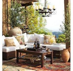 Landhausstil Beleuchtung Mit Gartenlaterne Sitzsofa Textilien | Best Of  Gardening | Pinterest | Backyard, Verandas And Outdoor Spaces