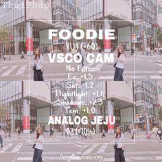 Foodie & Analog & Vsco