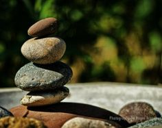 BALANCE - Stacked Rock Cairn - 8x12 Paper Art Print - Nature photography - Tao Zen Sacred Meditation stacked rocks spirituial