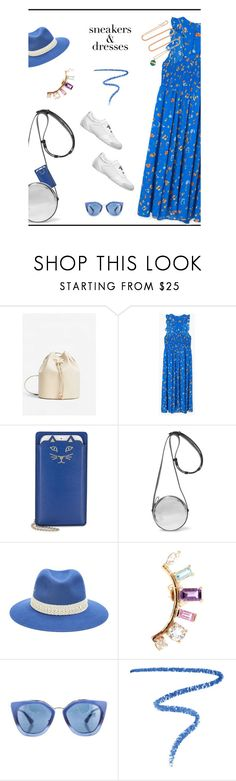 """""""Sporty Chic: Sneakers and Dresses♥♥♥"""" by marthalux ❤ liked on Polyvore featuring MANGO, Charlotte Olympia, Diane Von Furstenberg, Maison Michel, Loren Stewart, Prada, Marc Jacobs, Piaget, sporty and top"""