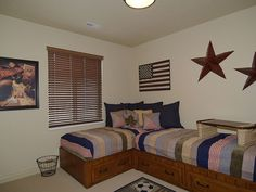 @Desiree Nechacov Gillespie  Space saving beds This would help save space for two boys or two girls sharing a bedroom.