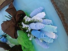 It's a boy baby shower baby wash cloth bouquet....The Master's Touch Decoration & Design