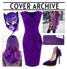 """purple"" by fashionvivianguo ❤ liked on Polyvore featuring Dorothy Perkins, Romantica and COSTUME NATIONAL"