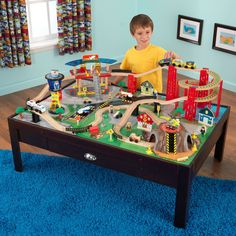 Kid Kraft Airport Express Train Set and Table - 17976