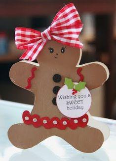☆☆A Southern Christmas☆☆ *Gingerbread girl* Homemade Christmas Cards, Christmas Decorations To Make, Homemade Cards, Holiday Crafts, Christmas Makes, Christmas Holidays, Southern Christmas, Christmas Ornaments, Xmas