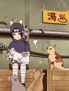 What could be more adorable than Itachi pampering a cat? :3