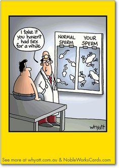 """Your Sperm"" Birthday Card by cartoonist Tim Whyatt."