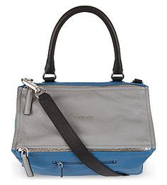 GIVENCHY Pandora Tricolour satchel (Medium blue