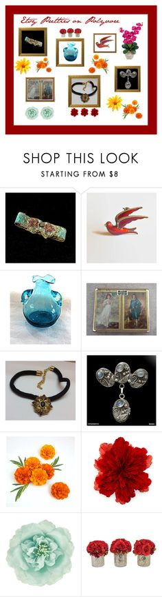 """""""Etsy Pretties on Polyvore"""" by anna-ragland ❤ liked on Polyvore featuring Gucci, Monsoon, The French Bee and vintage"""