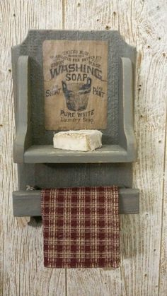 Hey, I found this really awesome Etsy listing at https://www.etsy.com/listing/182541133/wall-mount-towel-and-soap-holder