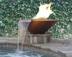 fire and water feature - neat combination of elements