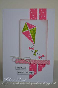 washi tape kite card by Archana Bhurke, via Flickr