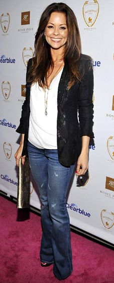 Brooke Burke - <3 the casual look - never go wrong with jeans and a blazer